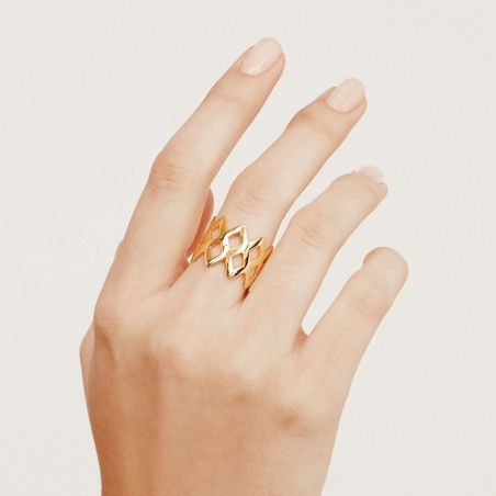 King gold ring hand