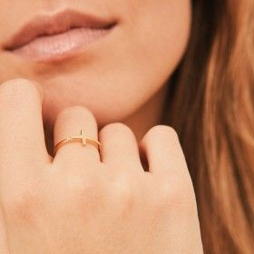 Cross gold ring sample 1