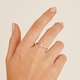 Jane silver ring hand