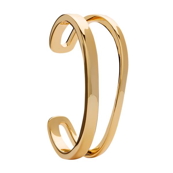 Curve gold bangle