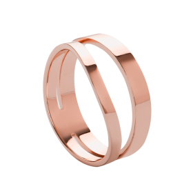 Wave rose gold ring