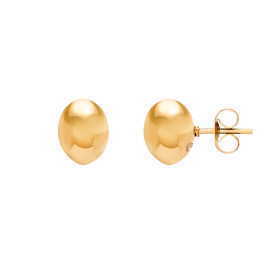 Bean gold earrings