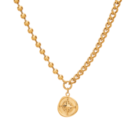 Compass gold necklace
