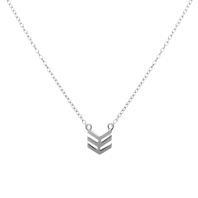 Down silver necklace