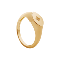 Star Signet ring gold