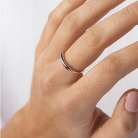 Skin silver ring sample