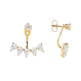 Celestial gold earrings