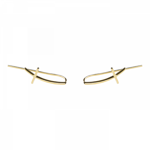 Crux Line gold earrings