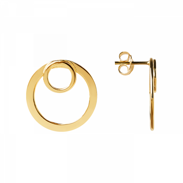 Idol gold earrings