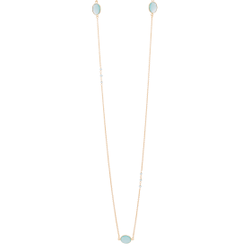Aqua Long Gold necklace