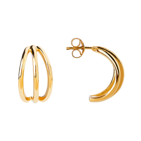 Pallina gold earrings