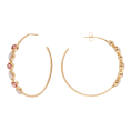 Pink Bibba Gold hoop earrings