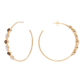 Smoky Bibba Gold hoop earrings