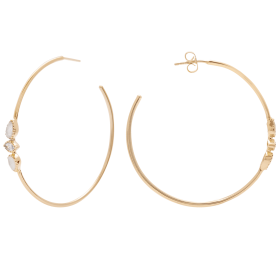 Lunar Mimi Gold Big Hoop Earrings