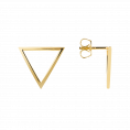 Triangl gold earrings