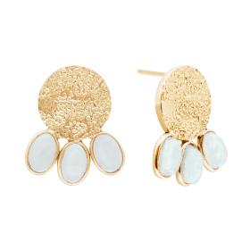 Aqua Etnic Gold aqua calci earrings