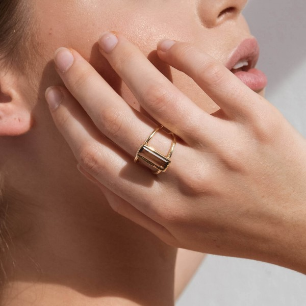 Smoky Spirit Gold ring model