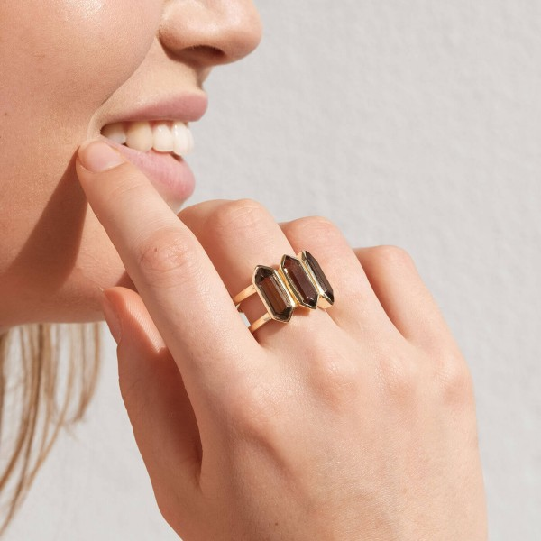 Smoky Talisman Gold ring model 2