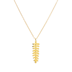 Folia gold necklace