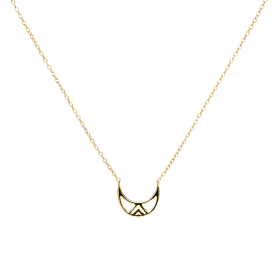 Gobba moon gold necklace