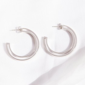 Boss silver earrings