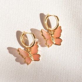 Butterfly gold earrings
