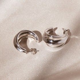 Retro Triple Hoop Earrings