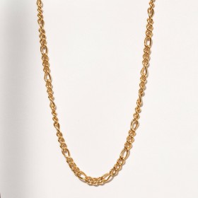 Gold figaro chain necklace 2