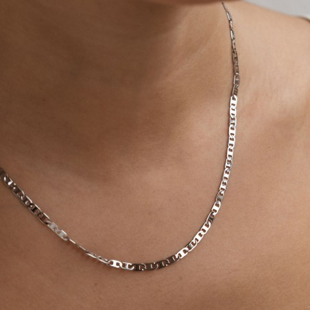 Thin silver chain necklace