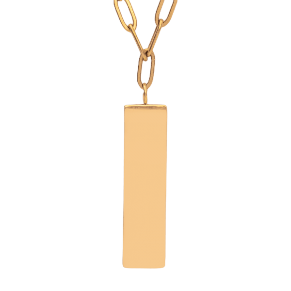 Customized gold necklace