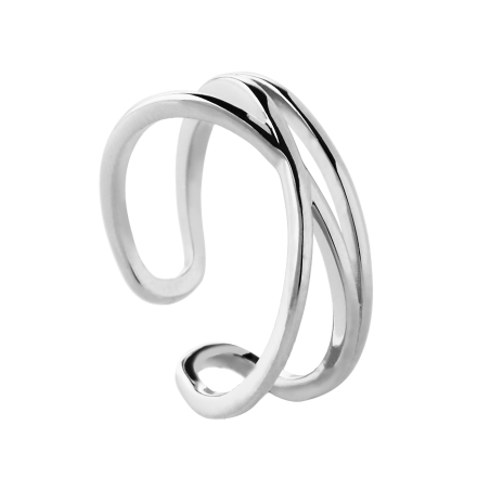 Tangled silver ring