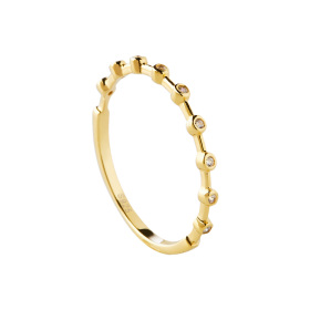Dotty gold ring