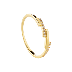 Shade gold ring