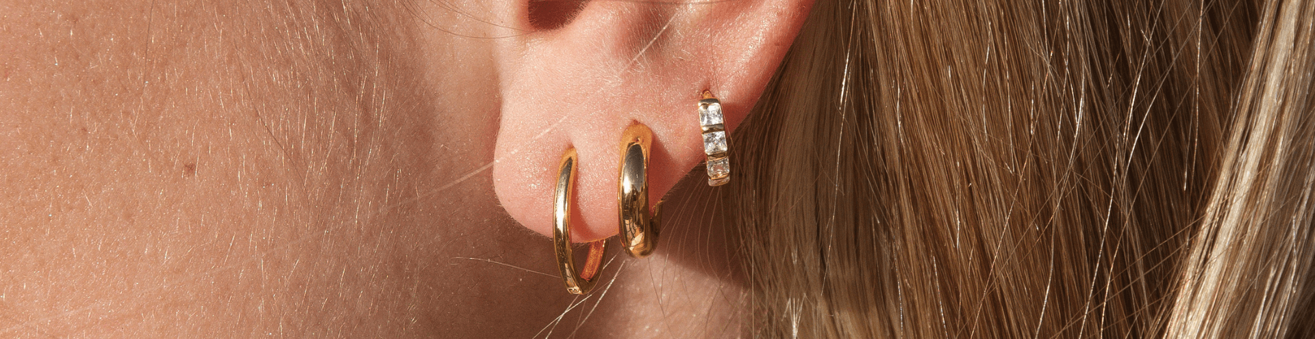Sterling Silver, Rose Gold and Gold Earrings
